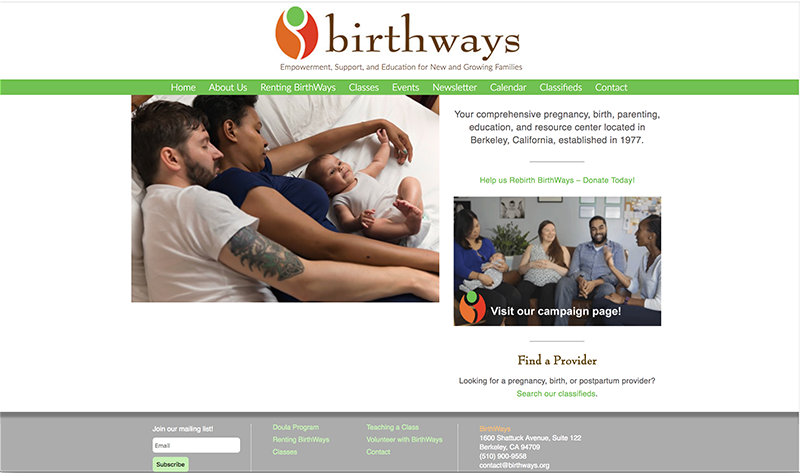 Birthways home page