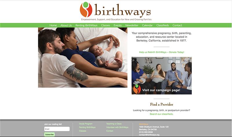 Birthways home page