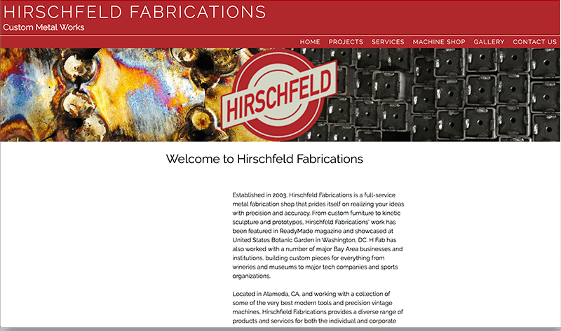 Hirschfeld Fabrications home page