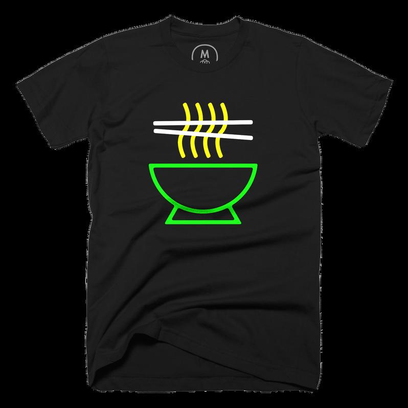 Neon ramen t-shirt